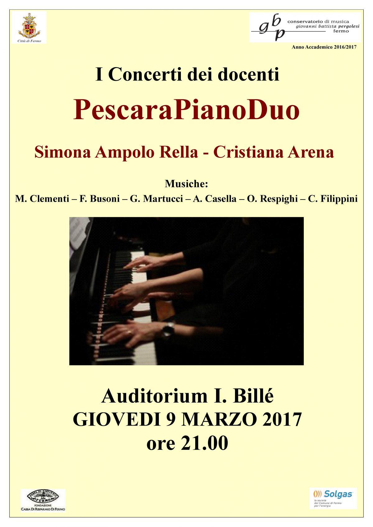 Locandina Concerto Arena-Ampolo (8 marzo 2017)
