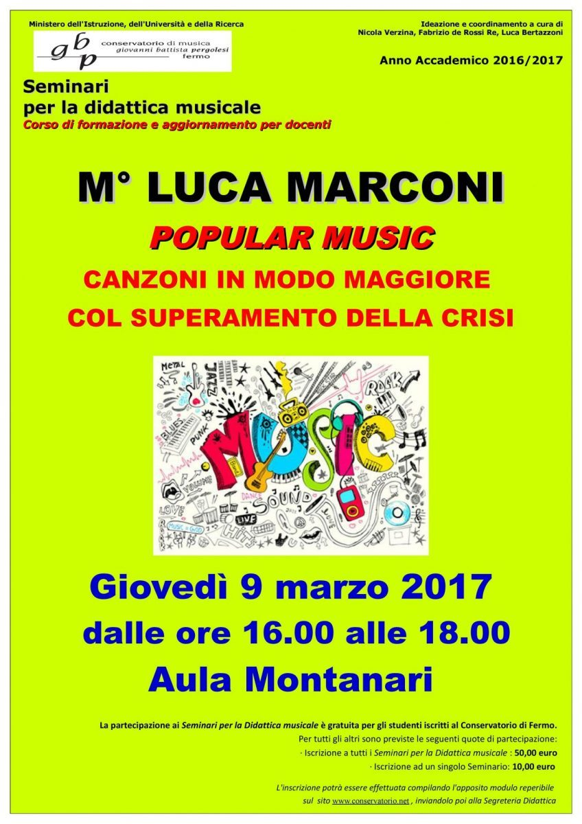 Locandina Seminari Didattica- LUCA MARCONI 2016-17
