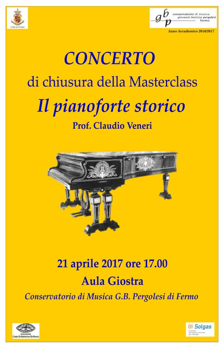 Locandina concerto finale masterclass il pianoforte storico