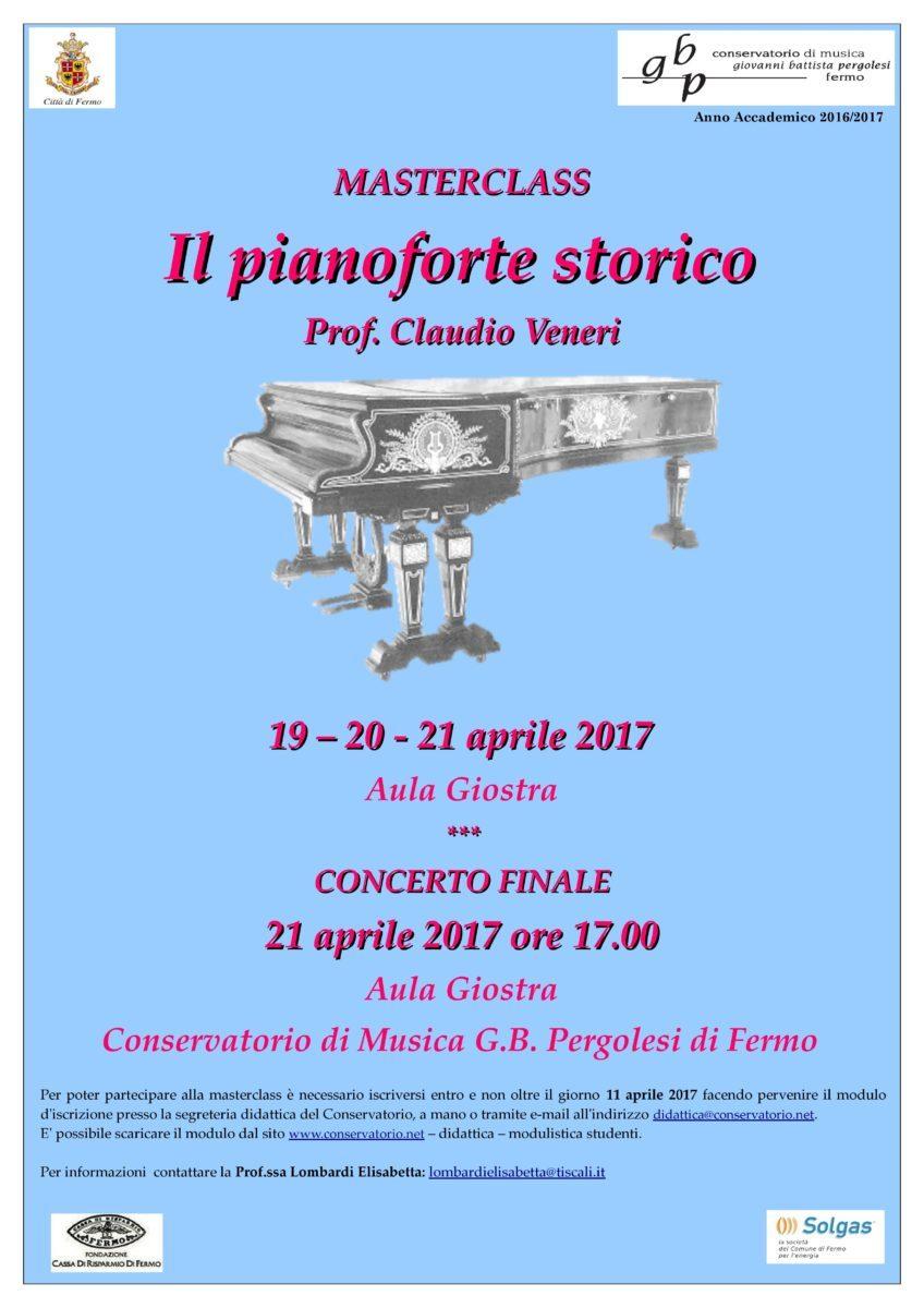 Locandina masterclass il pianoforte storico