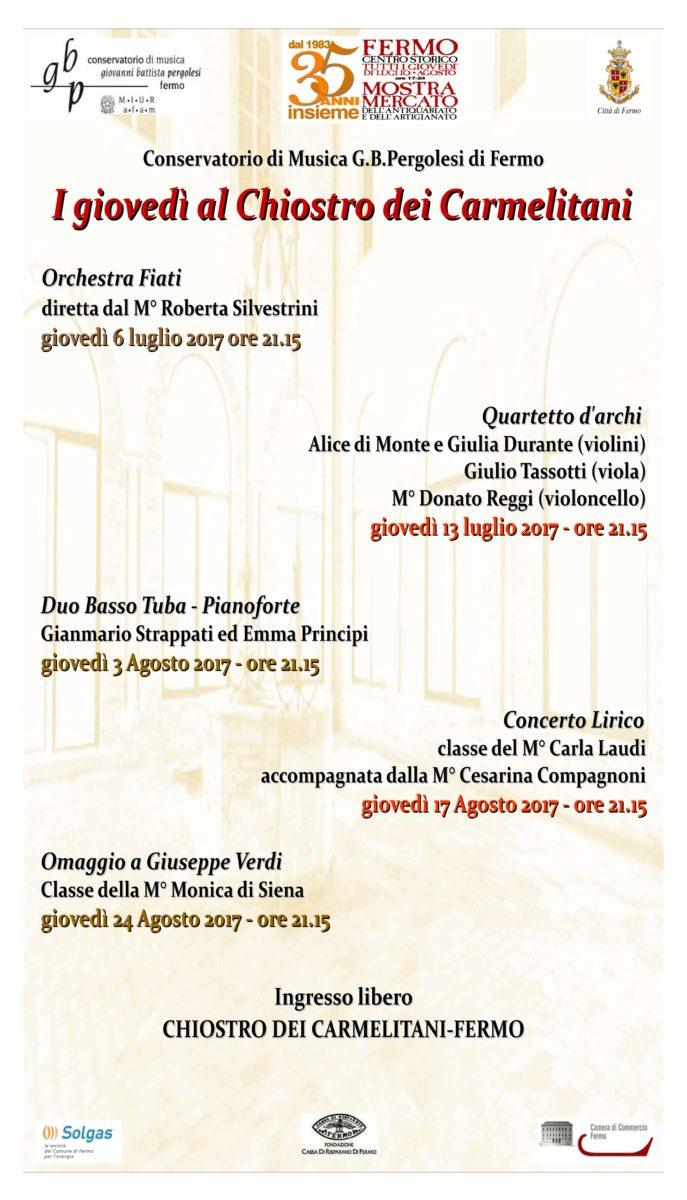 Locandina concerti nel chiostro2017 - X
