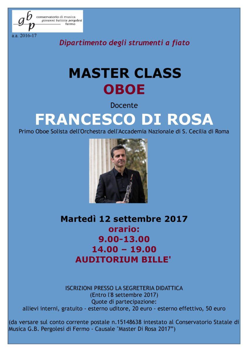 Locandina Master Di Rosa 2017