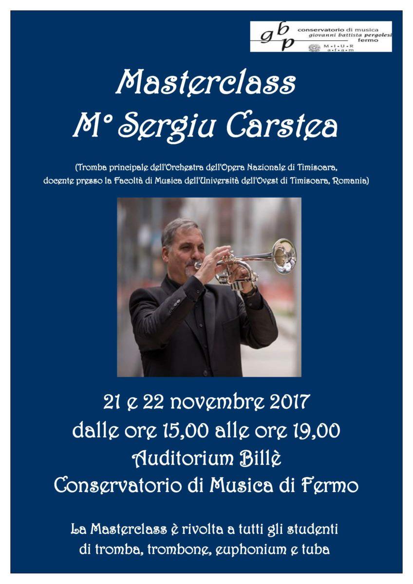 Locandina Masterclass tromba, trombone, tuba -