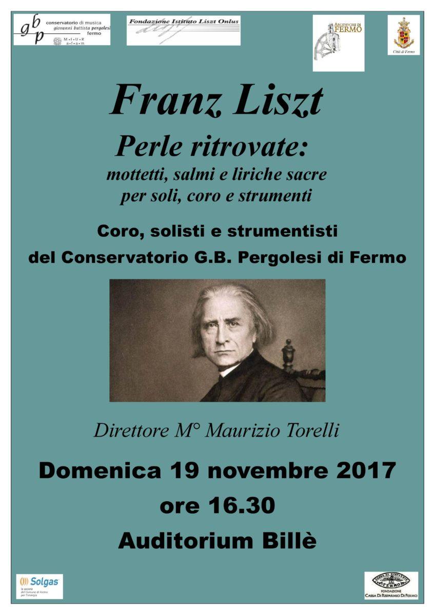 Locandina Concerto Liszt - 19 novembre 2017