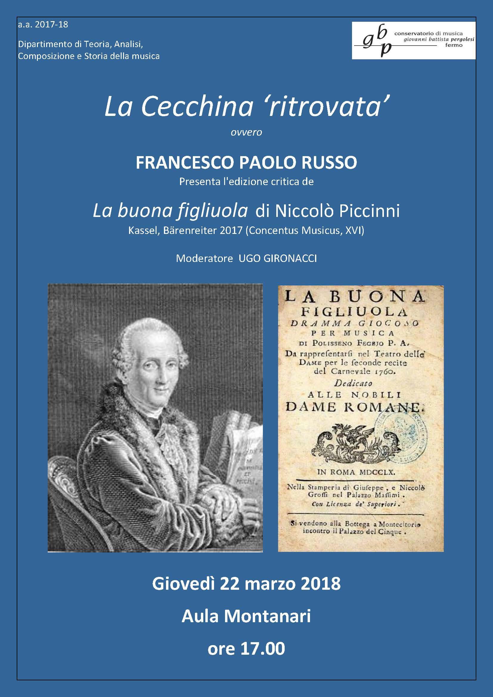 22 marzo 2018 Locandina Presentazione Russo