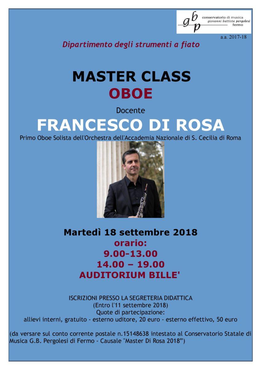 Locandina Master Di Rosa 2018