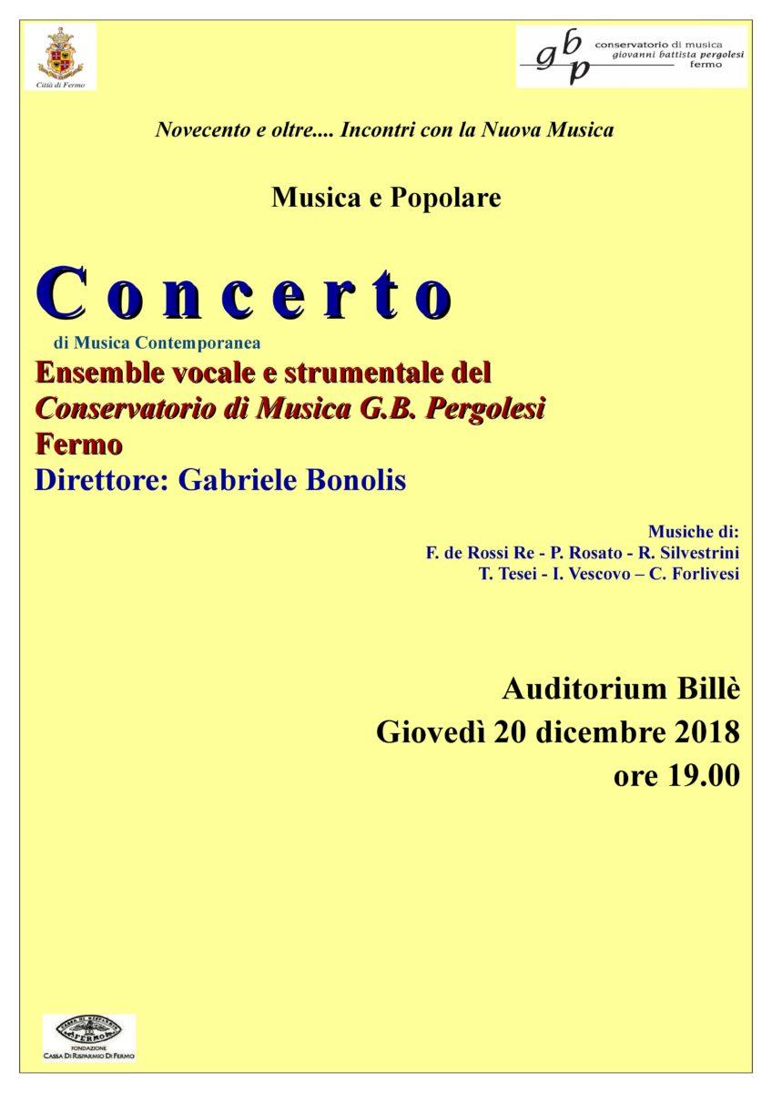 Locandina Concerto Musica e Poesia 20 dicembre 2018