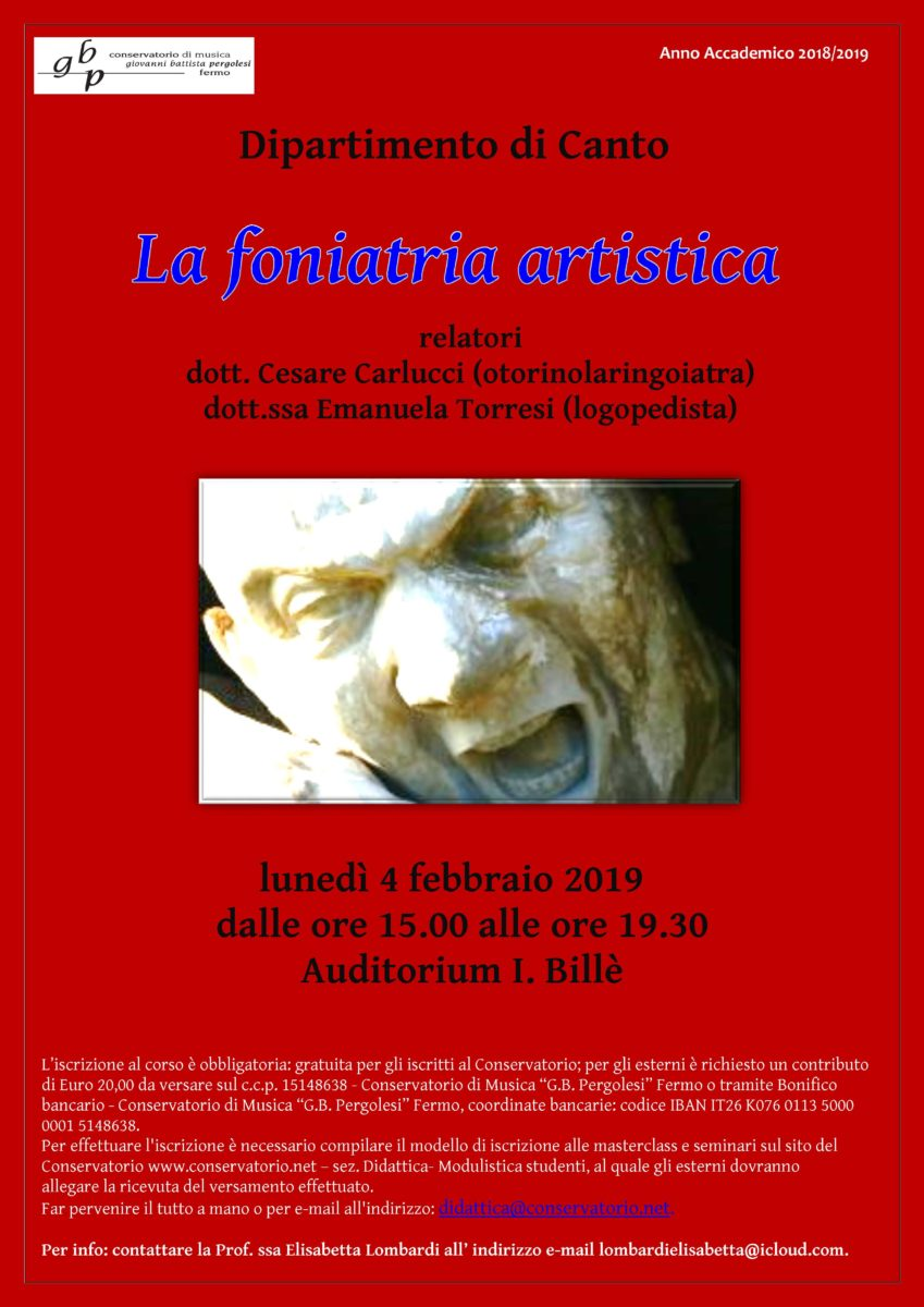 La foniatra artistica - Lombardi