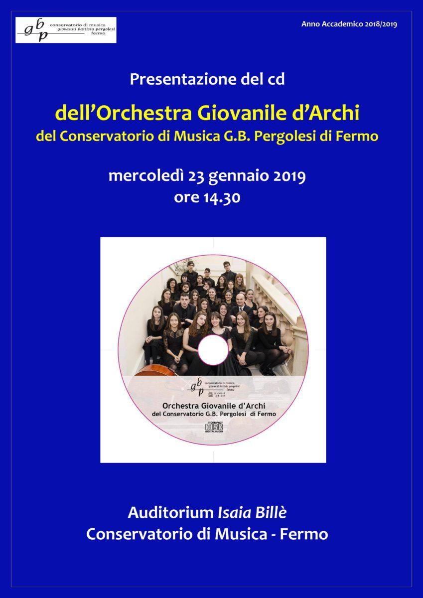 Locandina Presentazione cd Orchestra Giovanile d Archi - Reggi