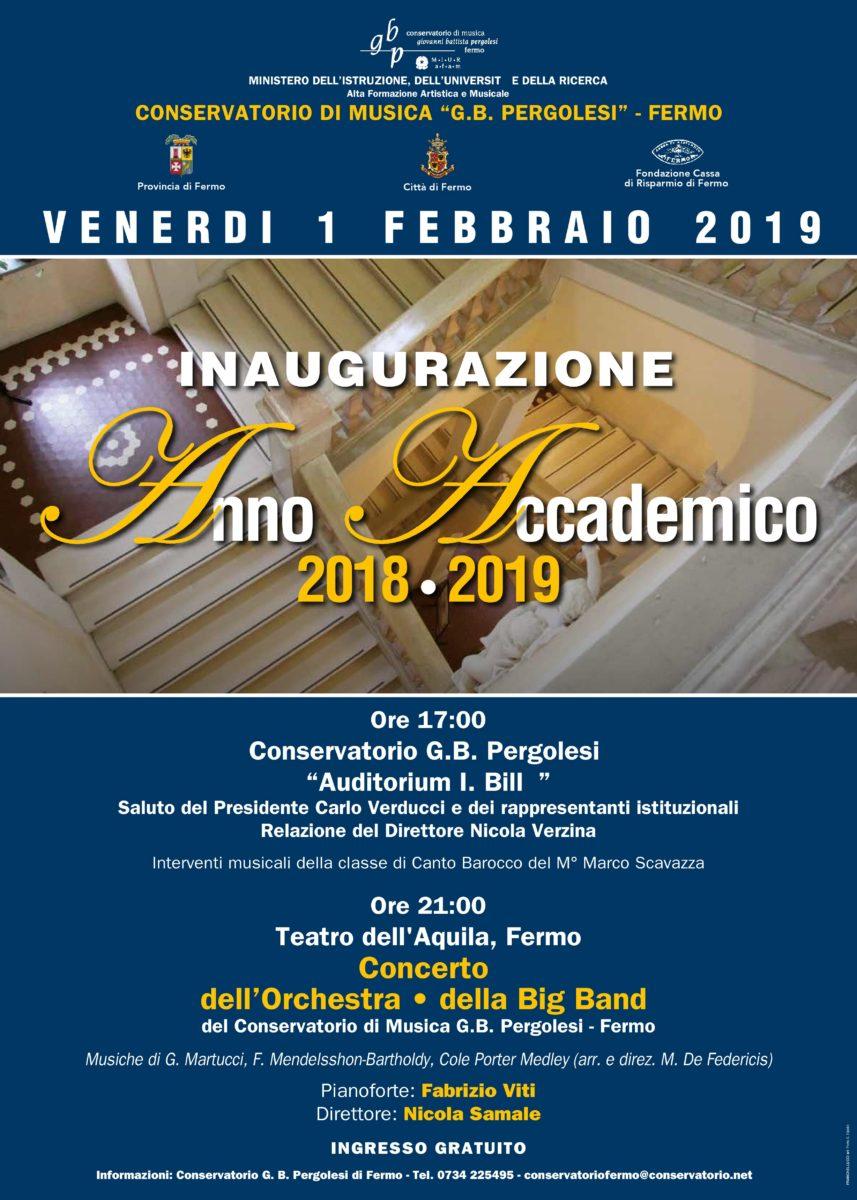Manifesto-Locandina_Inaugurazione Anno Accademico 2018-19