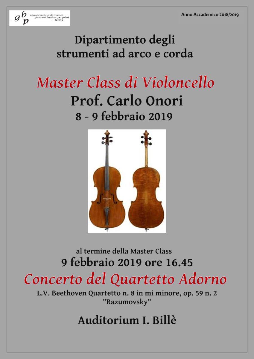 Locandina Master Cello - Onori