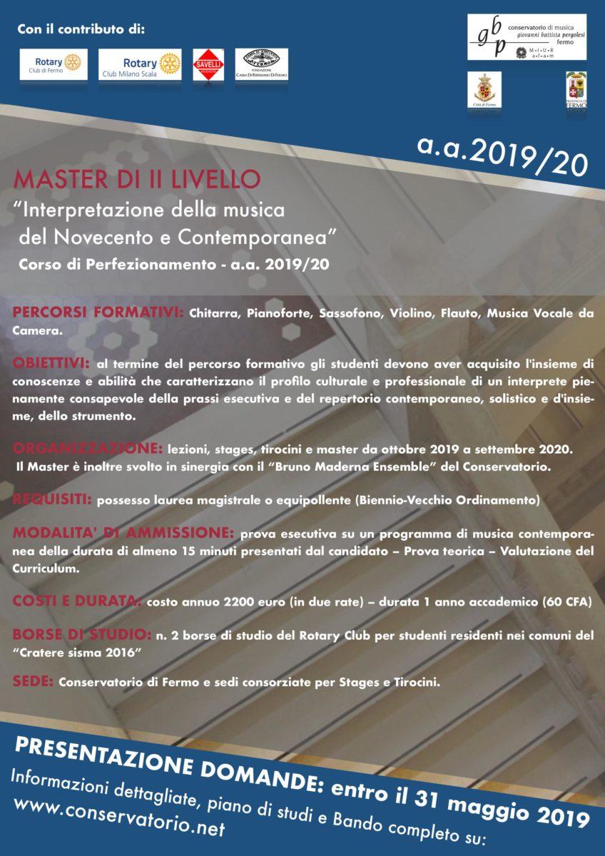 LOCANDINA MASTER II LIVELLO (definitiva)