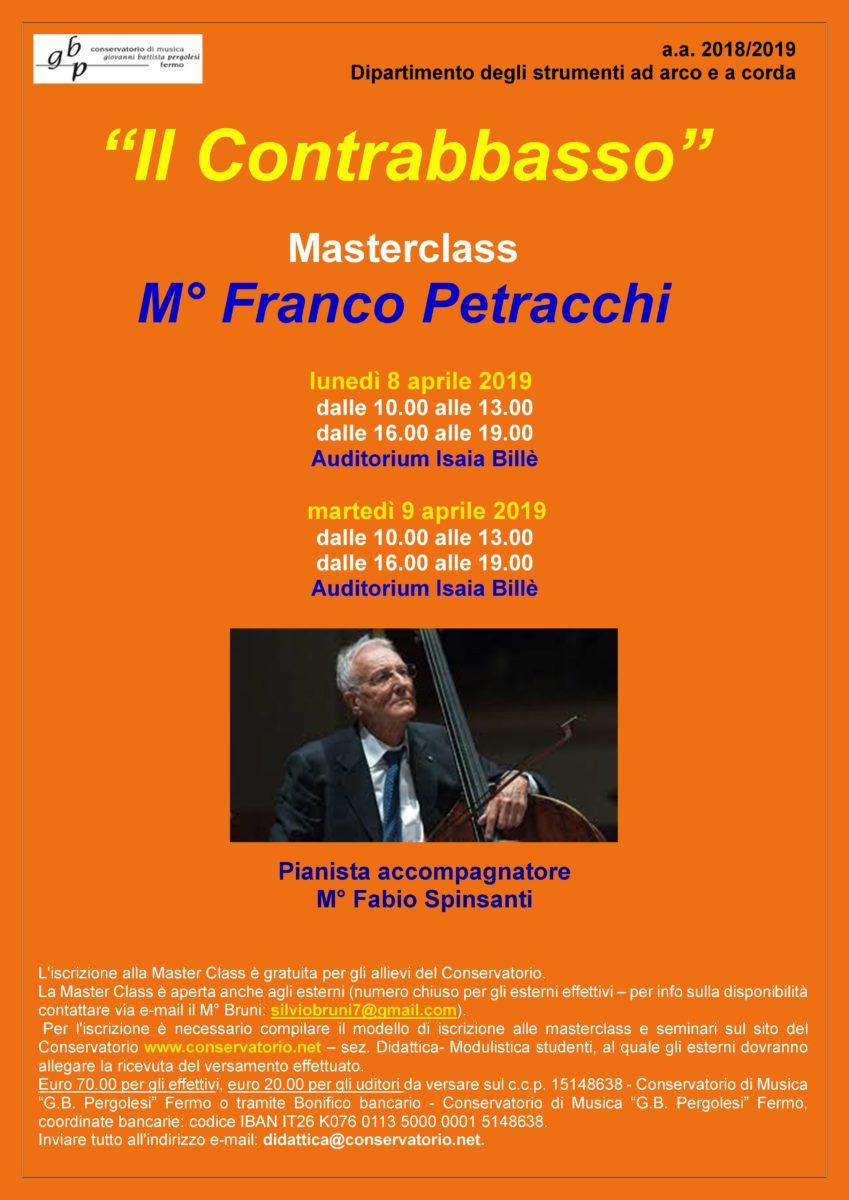 Locandina Master PETRACCHI - Contrabbasso