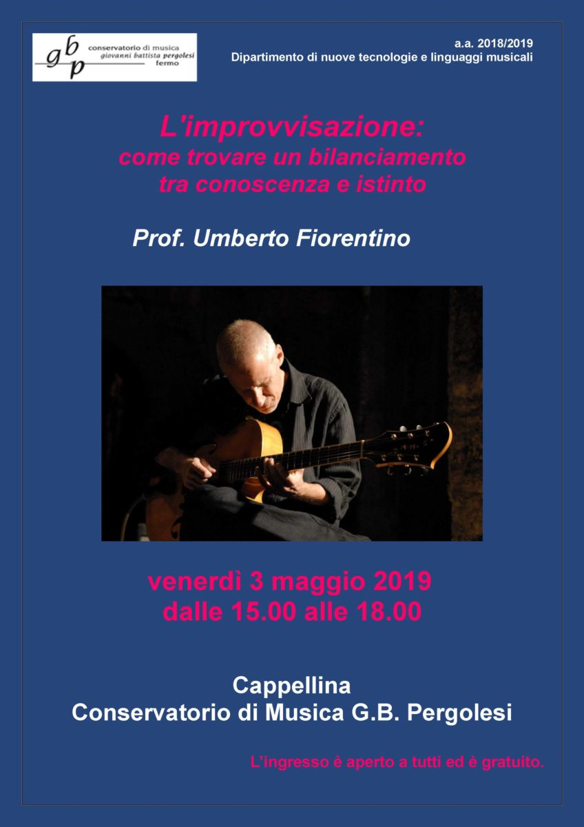 Locandina Master Chitarra Jazz - Umberto Fiorentino
