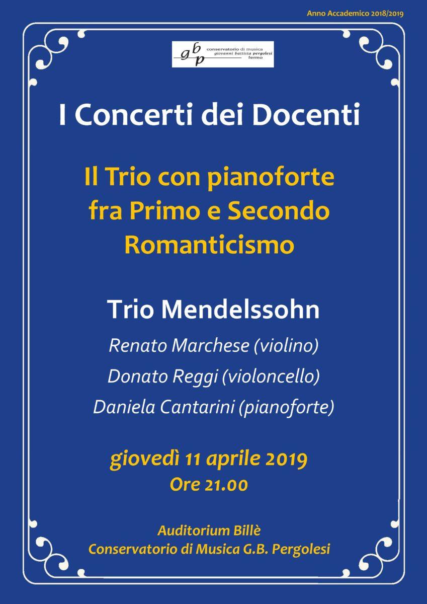 Locandina concerto dei docenti 2019 - TRIO 11 aprile 2019 g