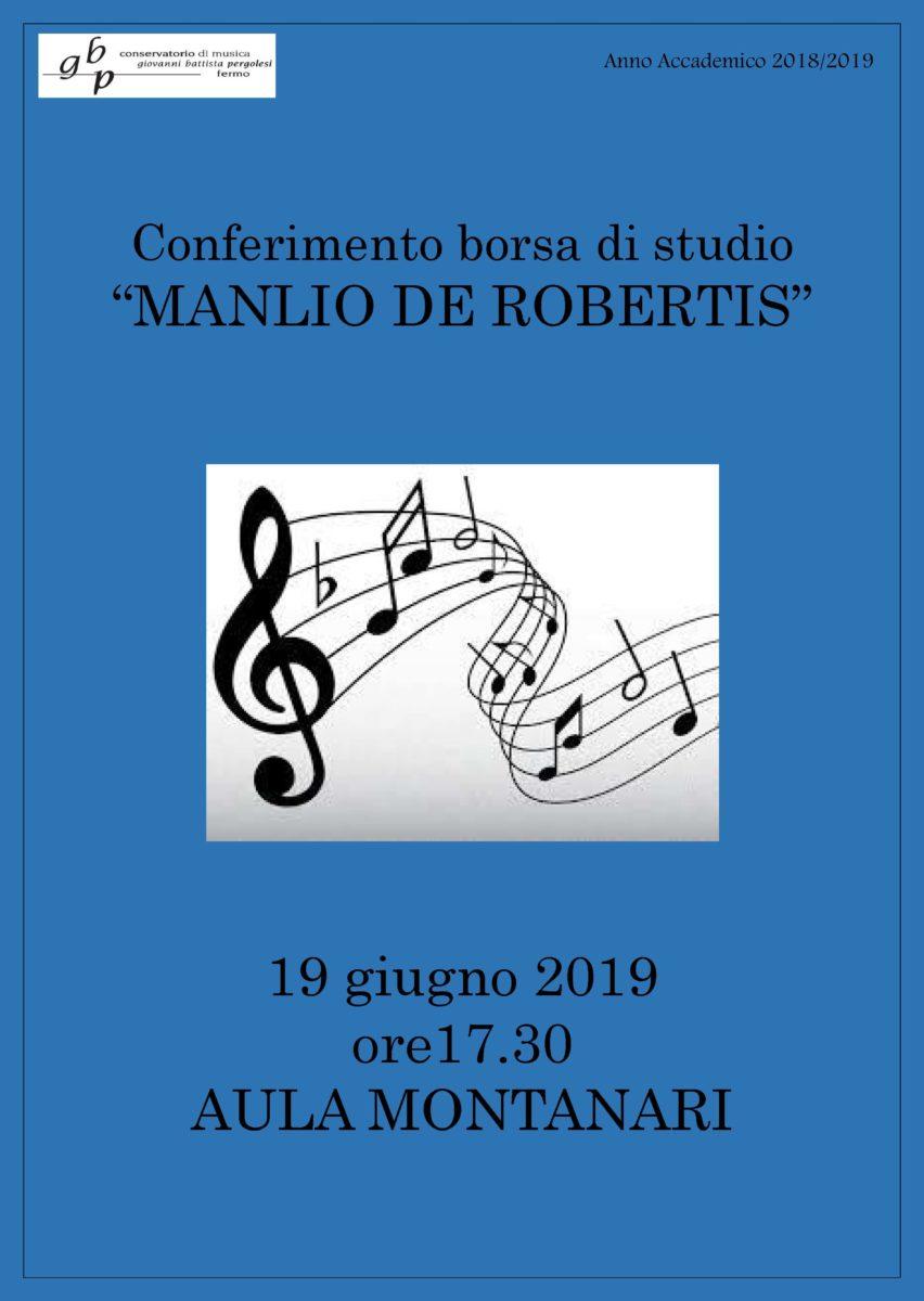 Locandina BORSE DI STUDIO MANLIO DE ROBERTIS