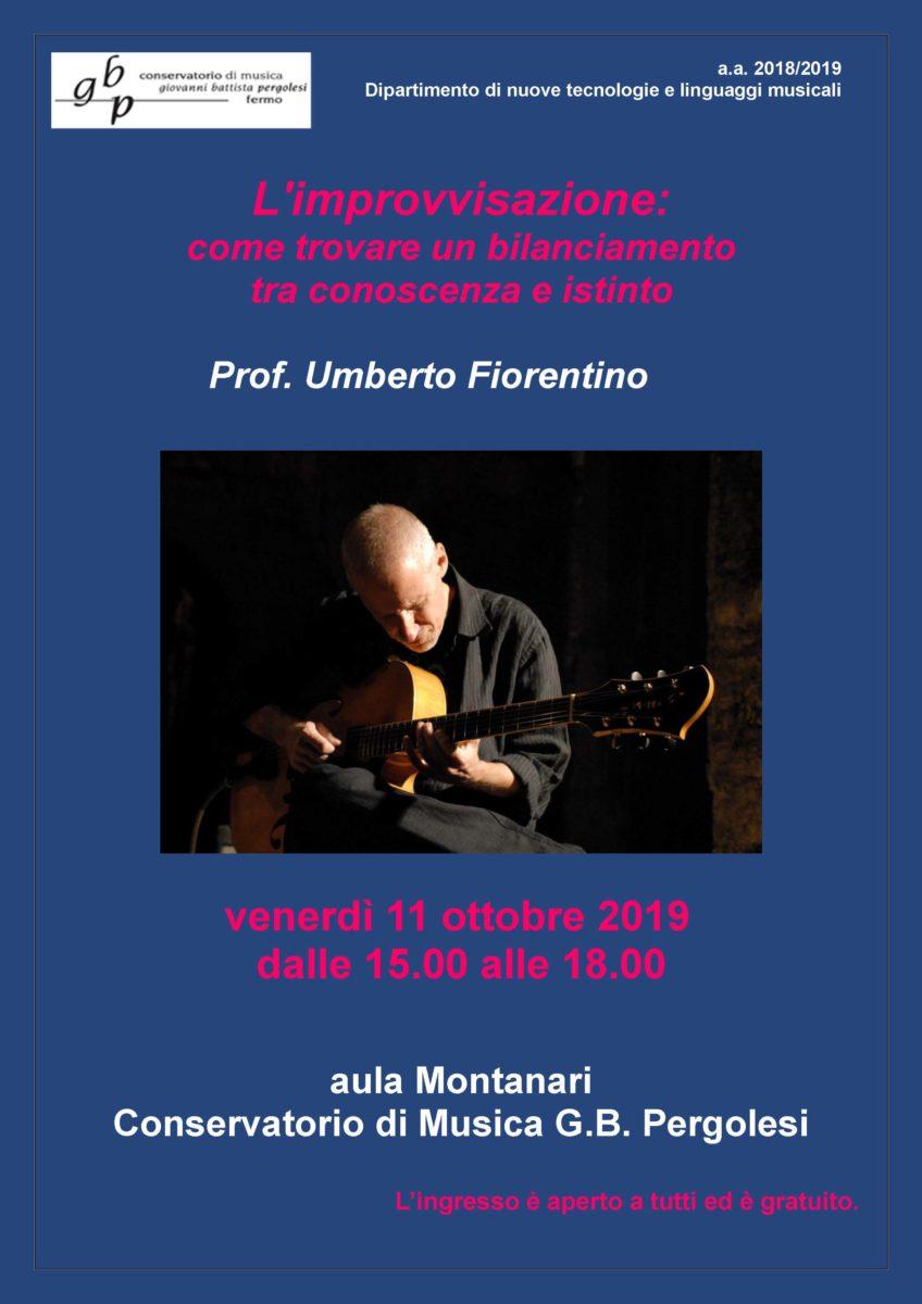 Locandina Master Chitarra Jazz - Umberto Fiorentino 2