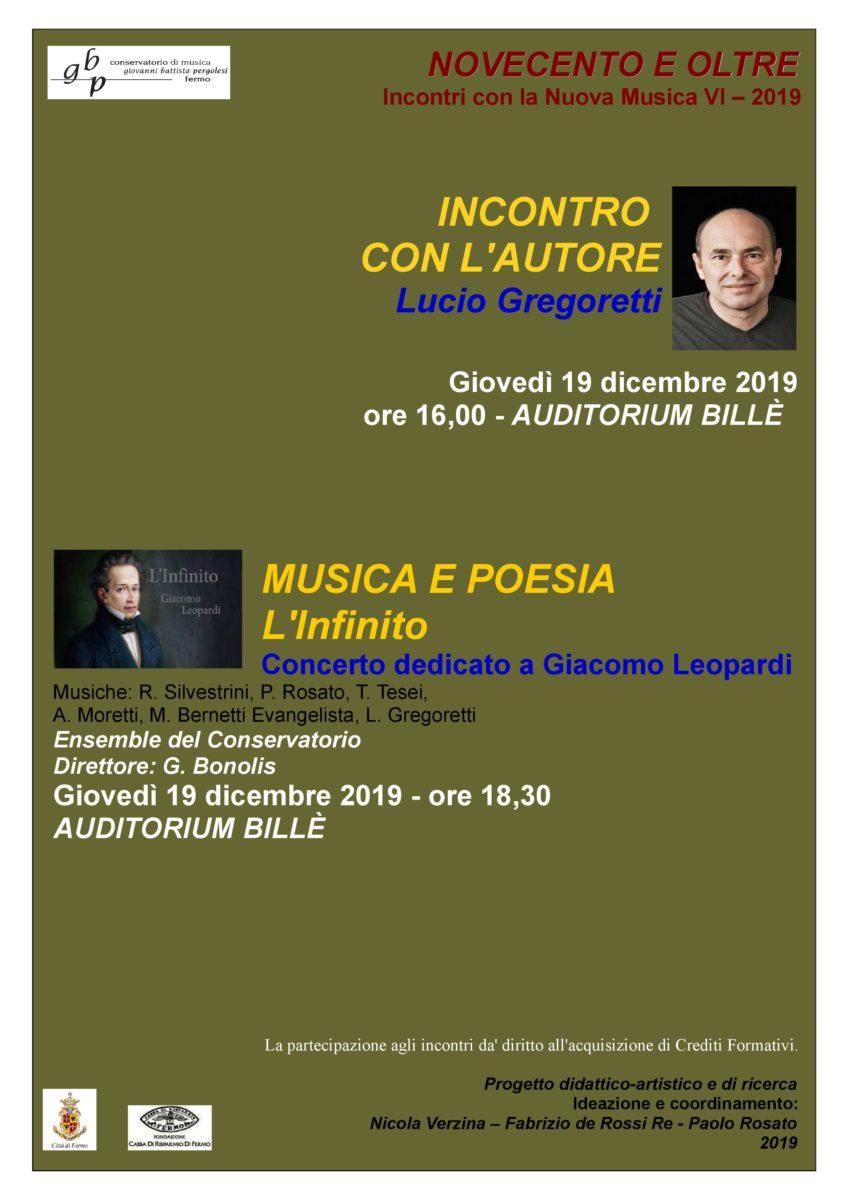 Locandina Gregoretti + Musica e poesia