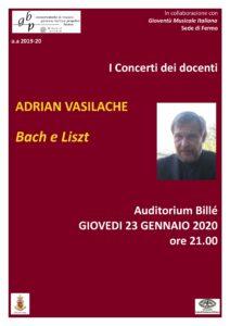 Locandina Concerto Vasilache 16 gennaio 2020