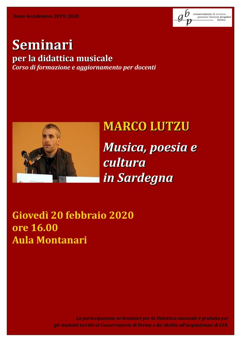 Locandina Seminario LUTZU 2019-20