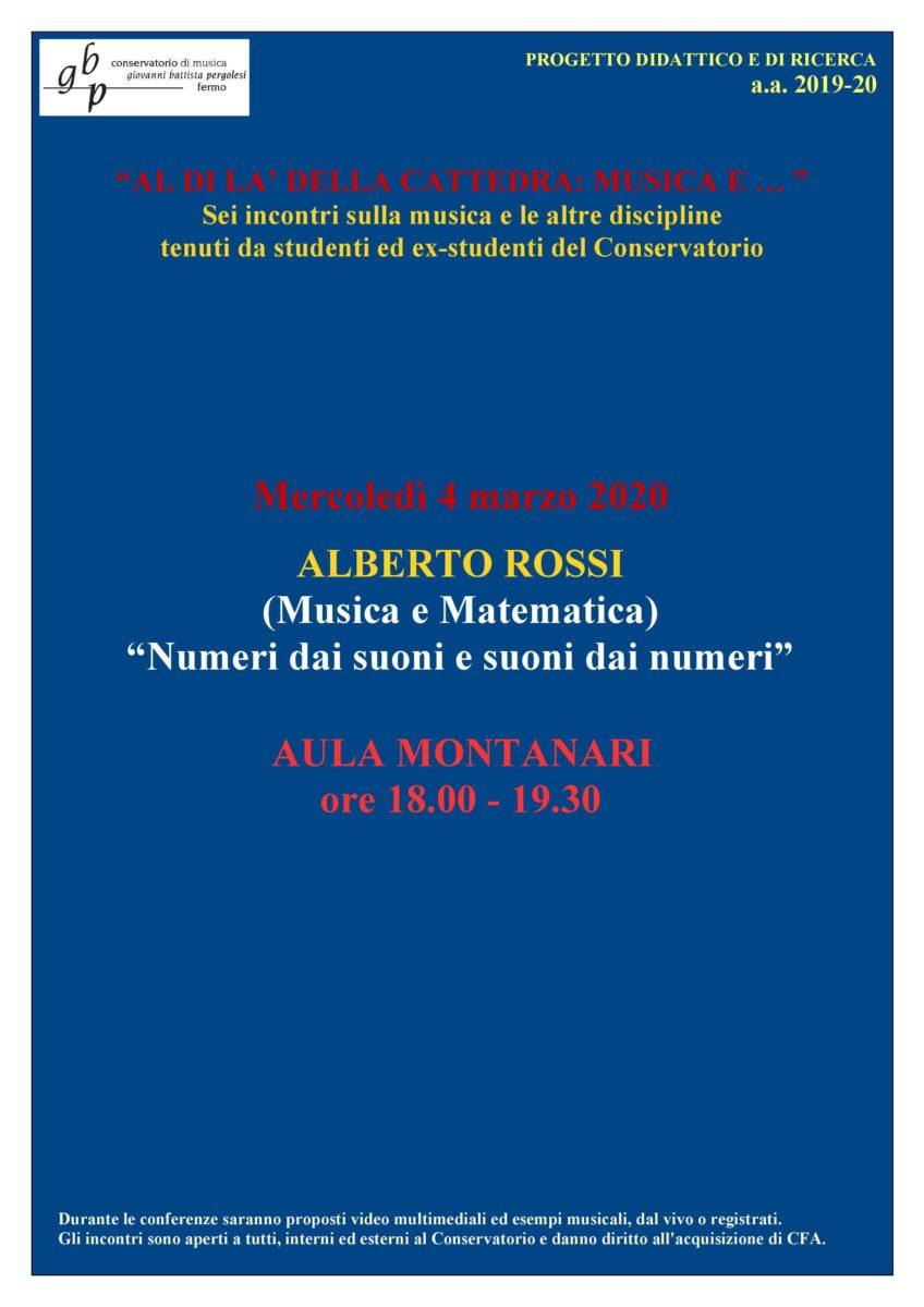 Al di la della cattedra-Rossi 4 marzo 2020
