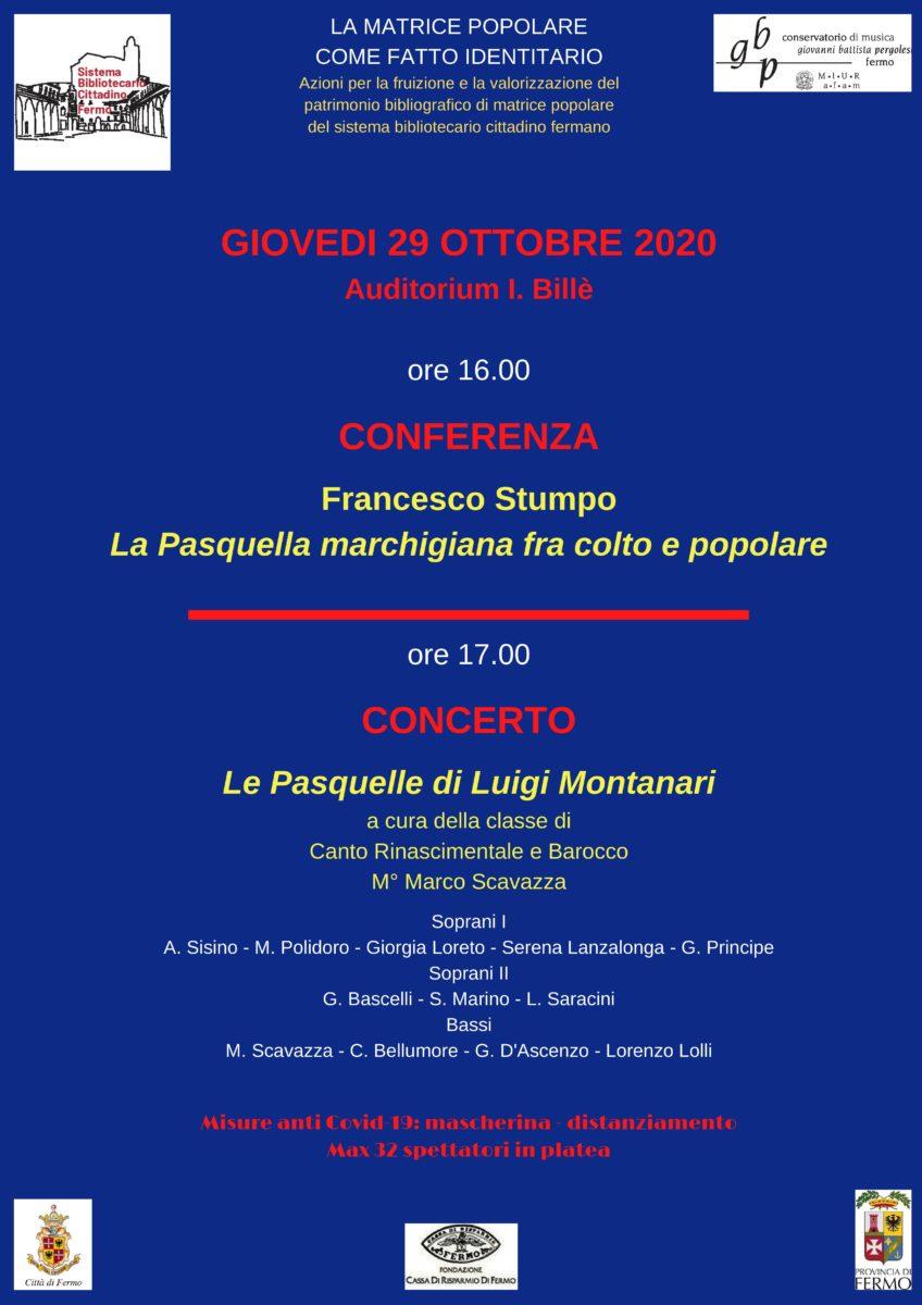 LOCANDINA PASQUELLE 29 OTTOBRE 2020