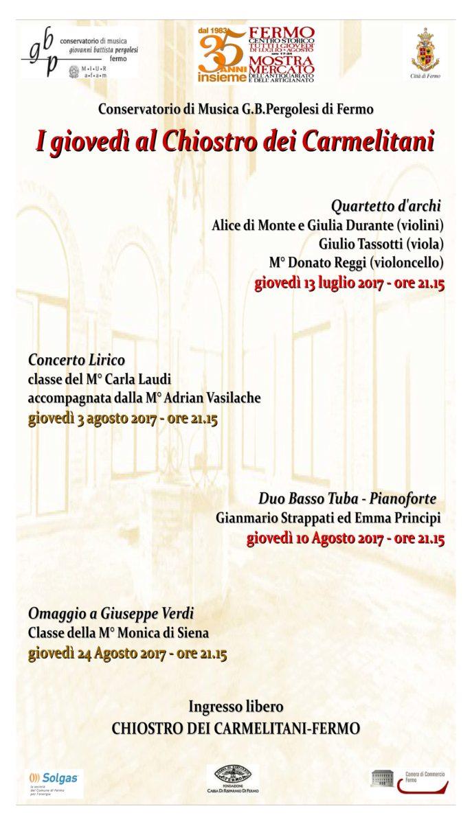 Locandina concerti nel chiostro2017 -Y