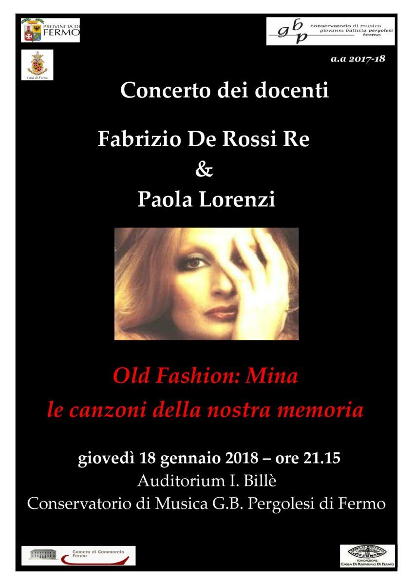 Locandina Concerto dei Docenti - 18 gennaio 2018