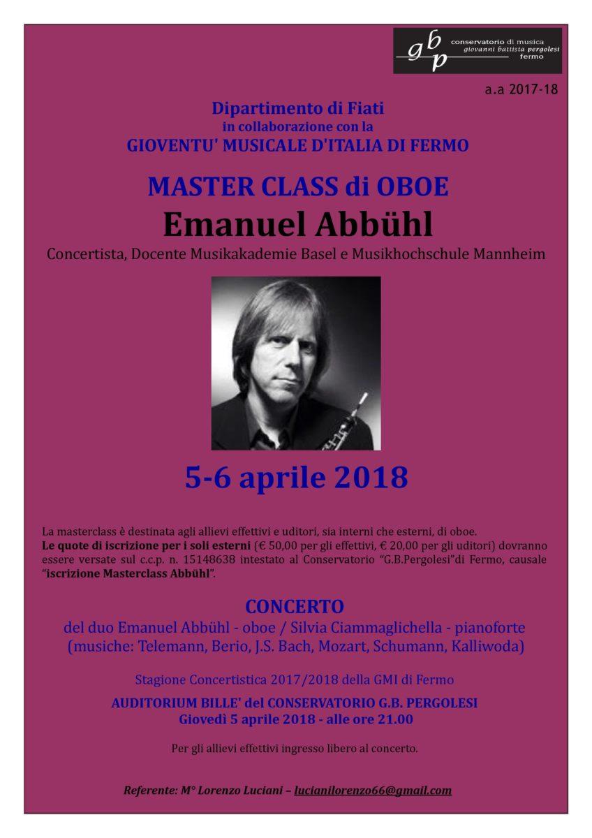 Locandina Master OBOE - ABBUHL