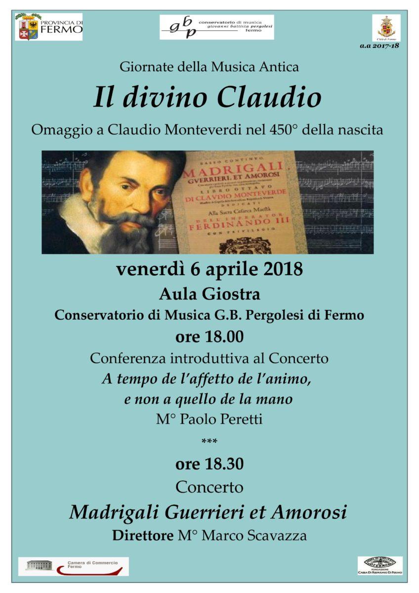 Locandina Concerti Monteverdi 2018- 6 aprile 2018