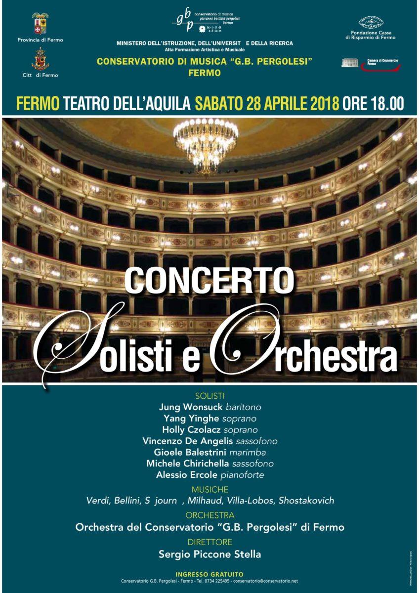 Manifesto Solisti e Orchestra 2018