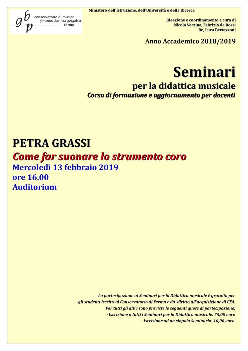 Seminario Petra Grassi