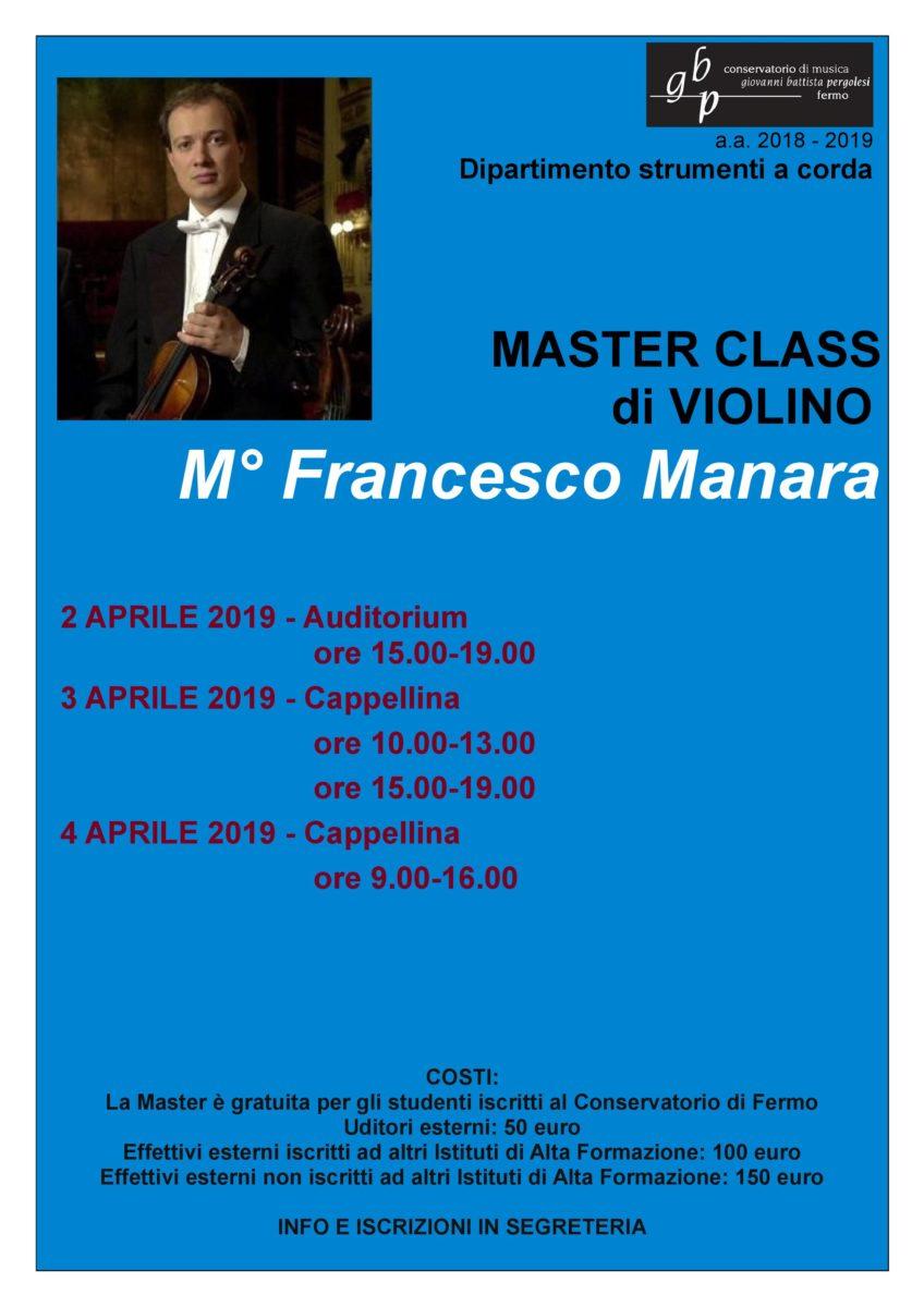 Locandina Master MANARA 2019