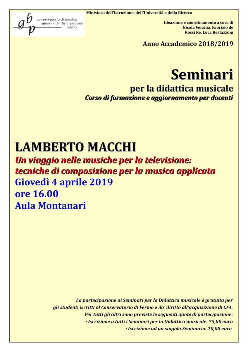 Locandina Seminario Macchi