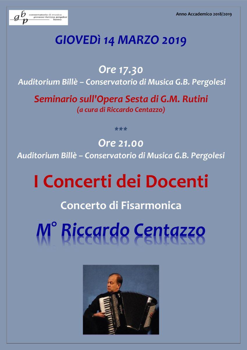 Locandina concerto dei docenti 2019 - CENTAZZO