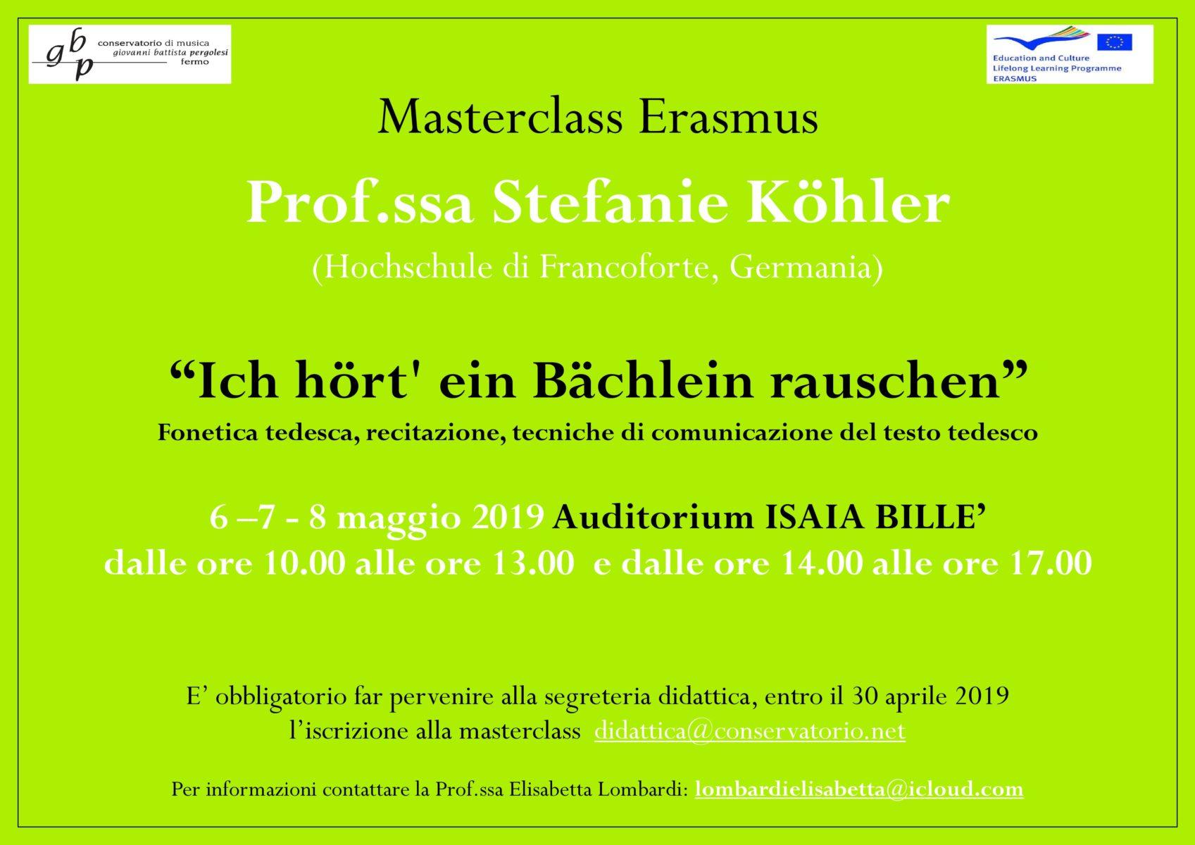 Locandina Master Koehler 2019