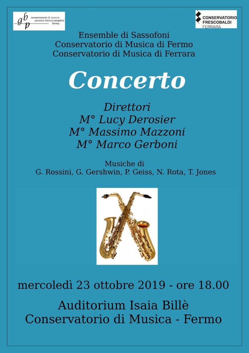 Ensemble di Sassofoni - Ferrara 2019