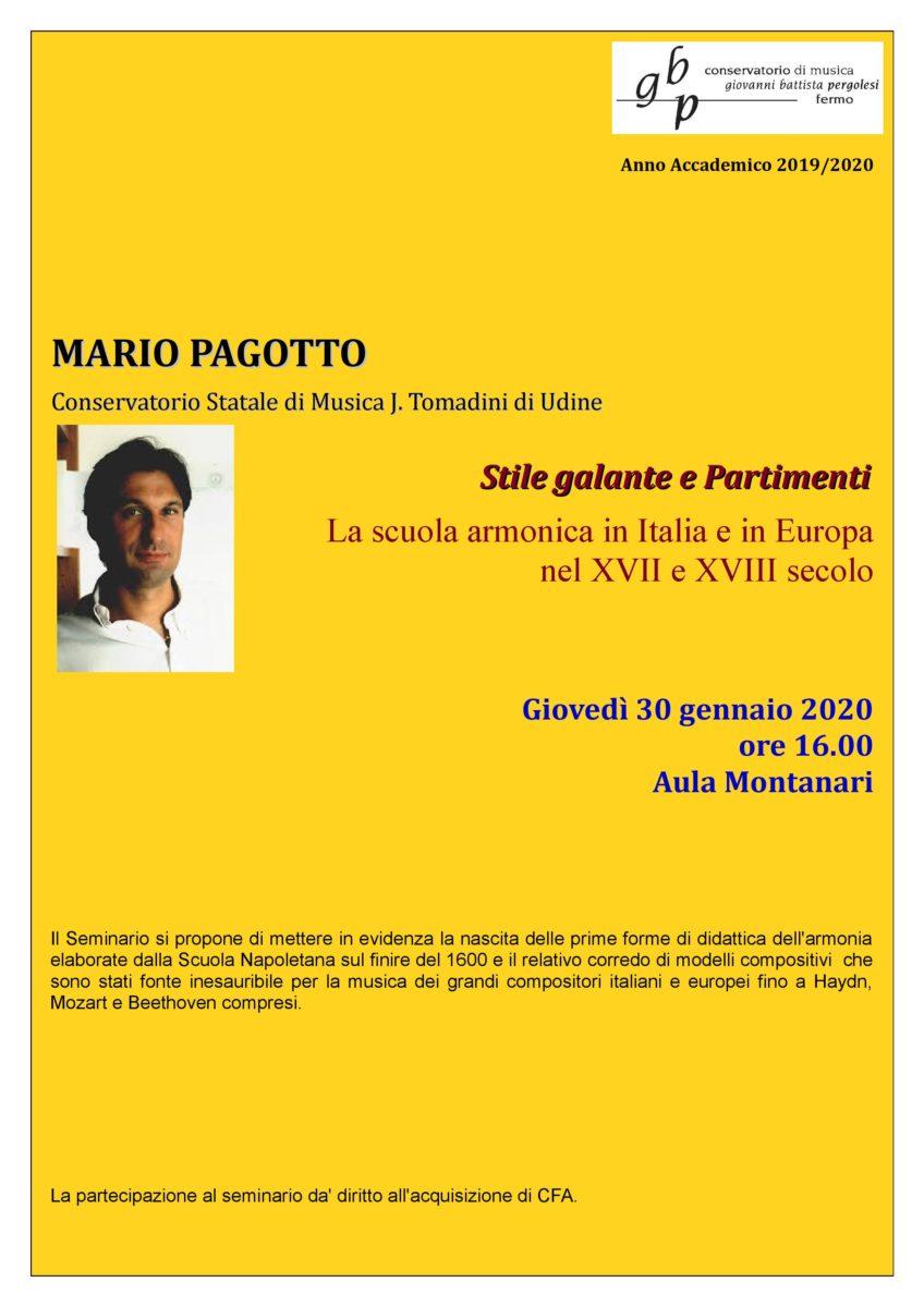 Locandina seminario Mario Pagotto