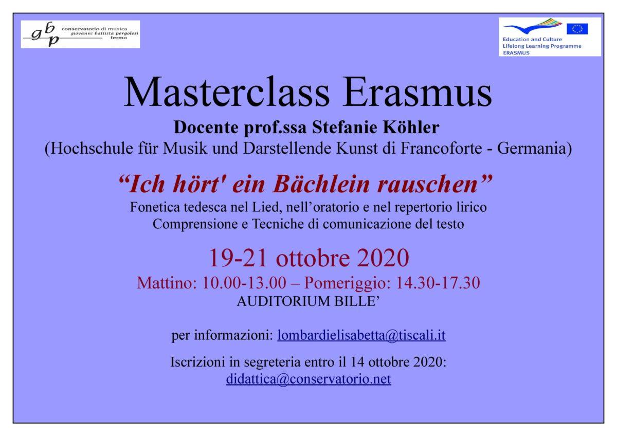 Locandina Master Koehler 2020