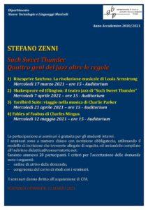 Locandina Seminario ZENNI 2020-21