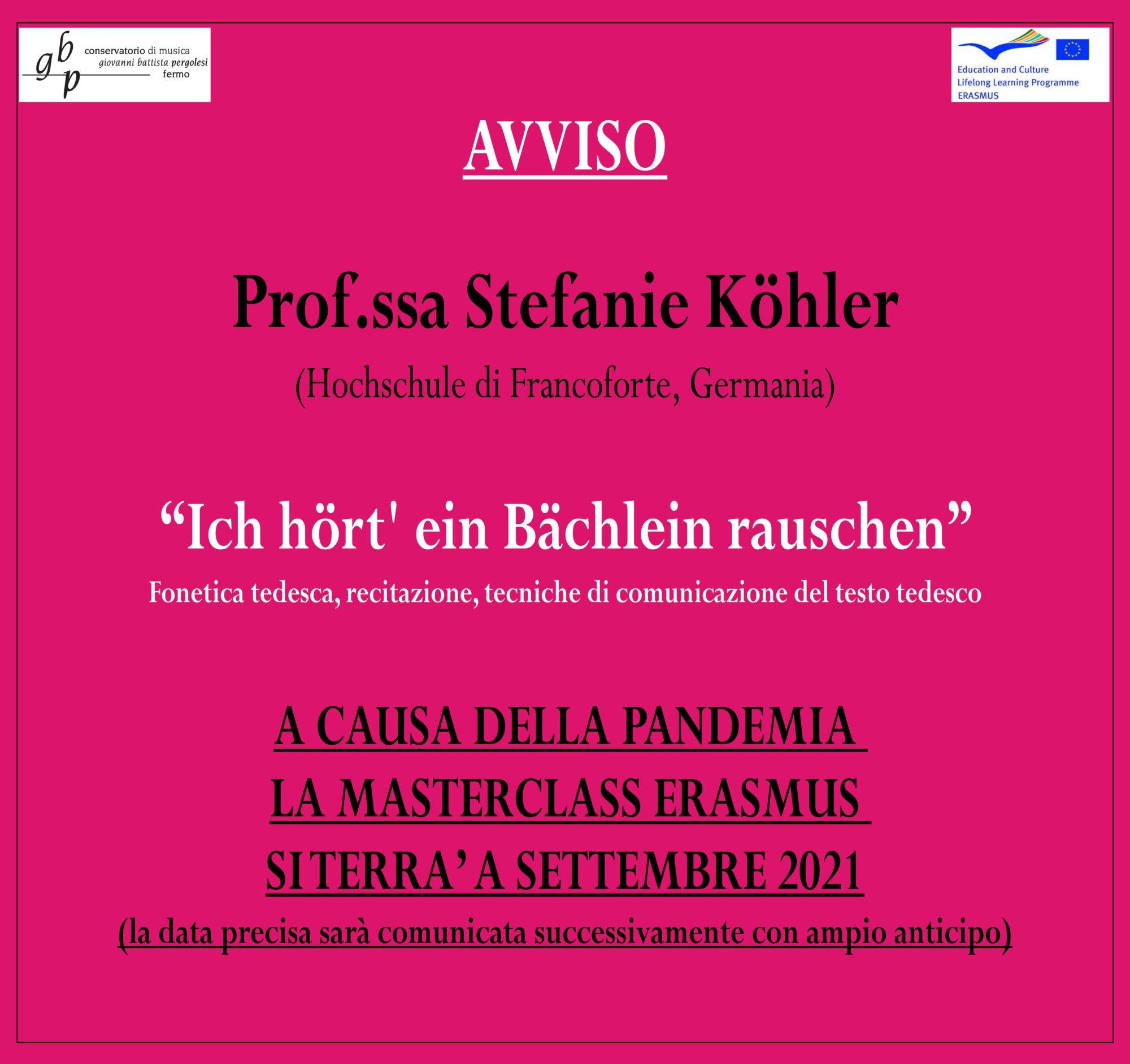 Locandina Koehler 2021 - AVVISO POSTICIPO 2