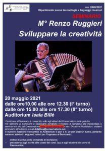 Locandina Seminario Ruggeri - classi di jazz