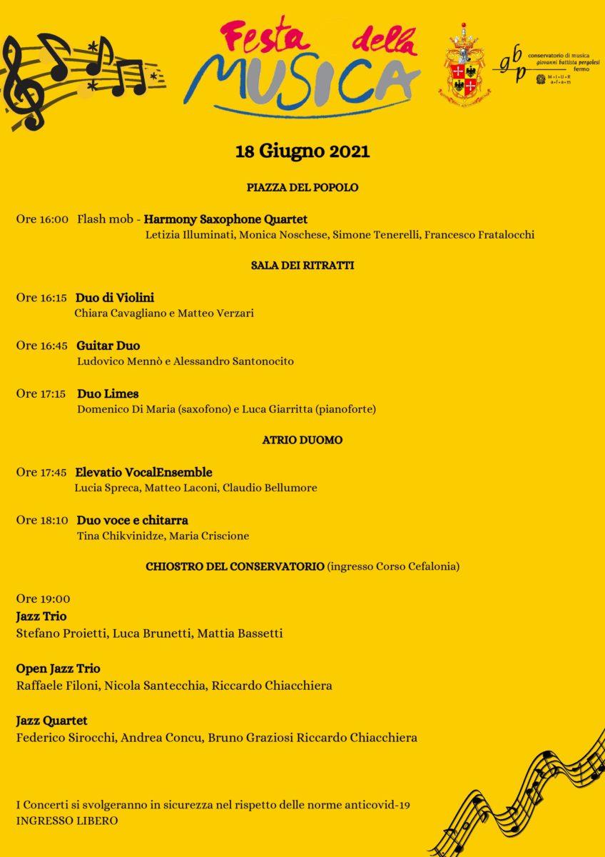 FESTA DELLA MUSICA 2021 (aggiornata)