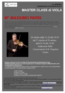 Locandina Master PARIS - VIOLAx
