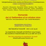 Locandina ammissioni MASTER 2021-22